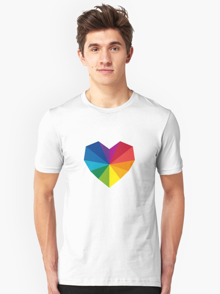 colorful geometric heart Unisex T-Shirt Front