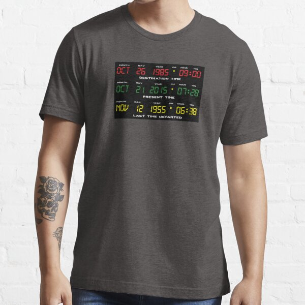 DeLorean Time Travel Display Dashboard Essential T-Shirt