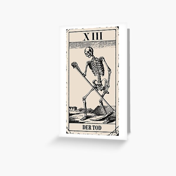 The Death / Death Tarot Card Greeting Card