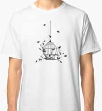 Free birds with open birdcage Classic T-Shirt
