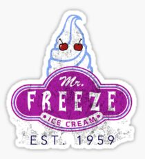 Mr. Freeze Ice Cream Sticker