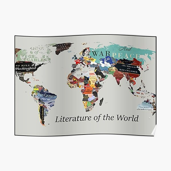 Literature Map Poster Poster