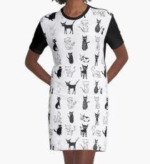 Cats, cats, cats. Graphic T-Shirt Dress