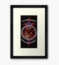 Never Forget the fallen heroes Framed Print