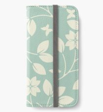 Cute pattern with flowers, leaves and butterflies iPhone Wallet/Case/Skin