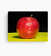 RED APPLE FACE Canvas Print