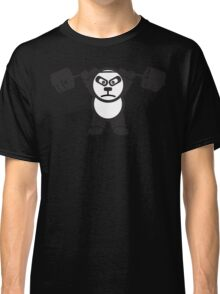 Cute Weightlifting Panda Bear (Overhead Press) Classic T-Shirt