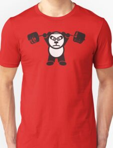 Cute Weightlifting Panda Bear (Overhead Press) Unisex T-Shirt