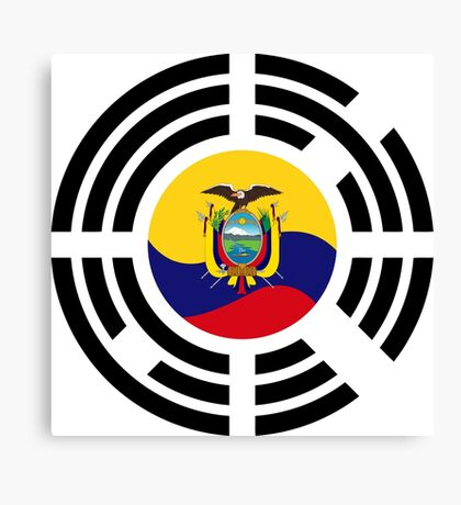 Korean Ecuadorian Multinational Patriot Flag Series Canvas Print