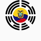 Korean Ecuadorian Multinational Patriot Flag Series by Carbon-Fibre Media