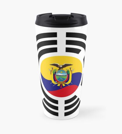 Korean Ecuadorian Multinational Patriot Flag Series Travel Mug