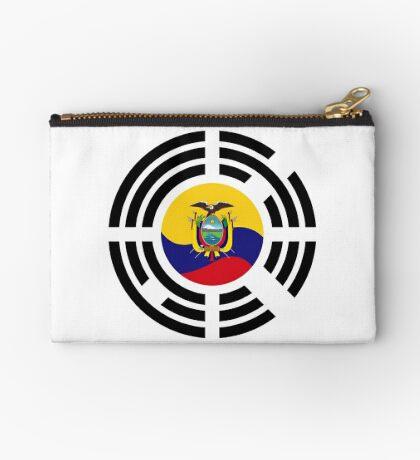 Korean Ecuadorian Multinational Patriot Flag Series Zipper Pouch