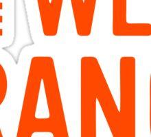 wear orange Sticker