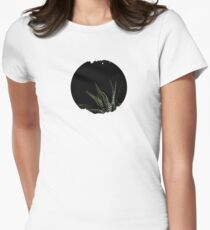 Haworthia Aloe Vera cactus succulent plant white spots Womens Fitted T-Shirt