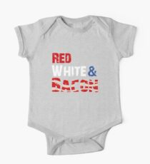 Red White and Bacon One Piece - Short Sleeve