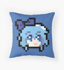 Pixel Cirno Throw Pillow