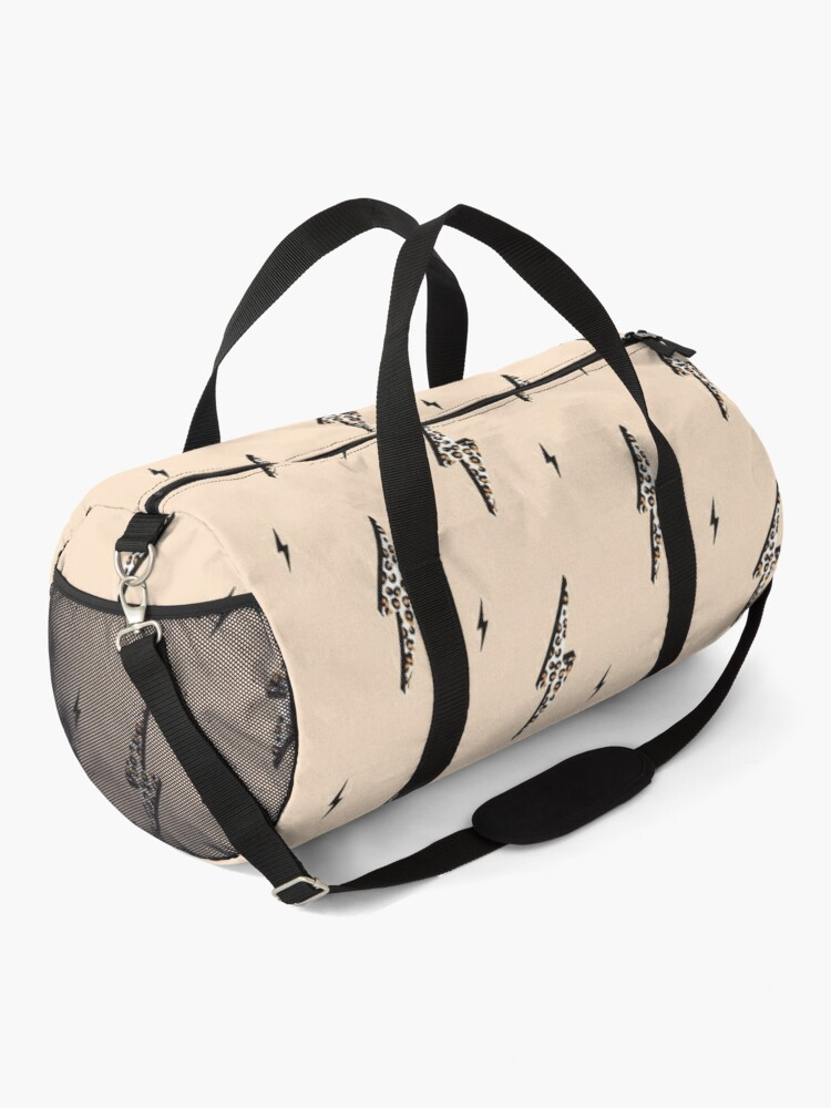 Alternate view of Lightning bolt leopard flash Duffle Bag