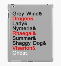 The Direwolves and The Dragons iPad Case/Skin