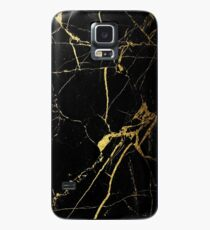 Black and Gold Marble  Case/Skin for Samsung Galaxy