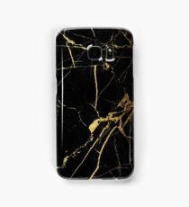 Black and Gold Marble  Samsung Galaxy Case/Skin