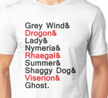 The Direwolves and The Dragons Unisex T-Shirt