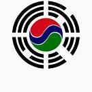 Korean Gambian Multinational Patriot Flag Series by Carbon-Fibre Media