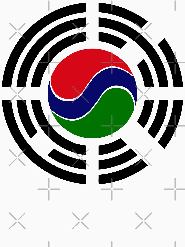 Korean Gambian Multinational Patriot Flag Series by carbonfibreme