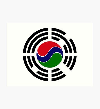 Korean Gambian Multinational Patriot Flag Series Art Print