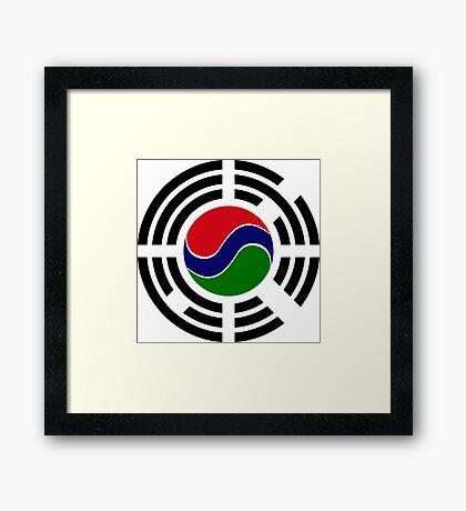 Korean Gambian Multinational Patriot Flag Series Framed Print
