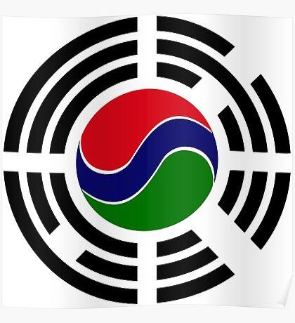 Korean Gambian Multinational Patriot Flag Series Poster
