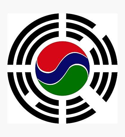 Korean Gambian Multinational Patriot Flag Series Photographic Print