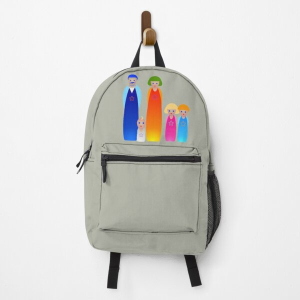 Peg dolls. Backpack