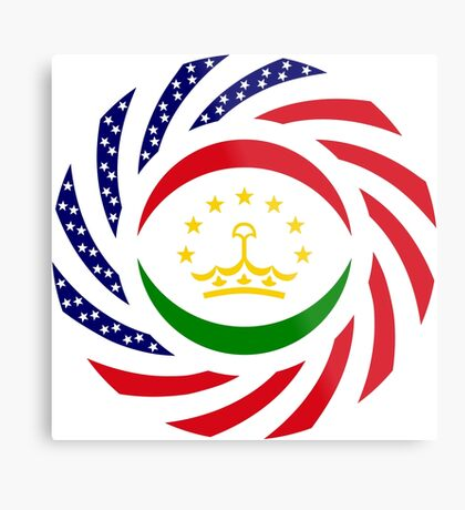 Tajik American Multinational Patriot Flag Series Metal Print