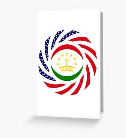 Tajik American Multinational Patriot Flag Series Greeting Card
