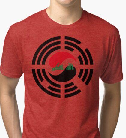 Korean Iraqi Multinational Patriot Flag Series Tri-blend T-Shirt