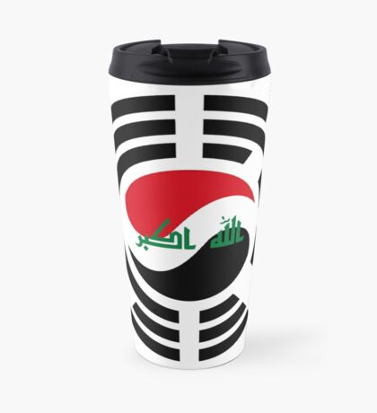 Korean Iraqi Multinational Patriot Flag Series Travel Mug