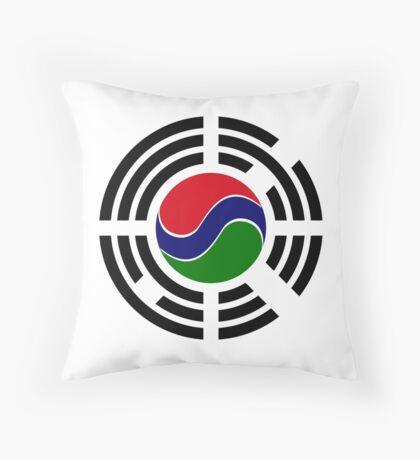 Korean Gambian Multinational Patriot Flag Series Throw Pillow