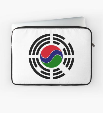 Korean Gambian Multinational Patriot Flag Series Laptop Sleeve