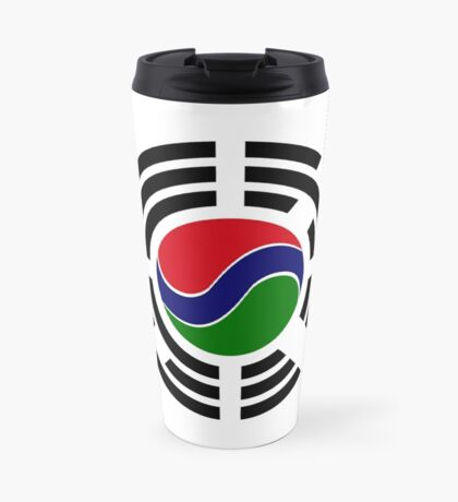 Korean Gambian Multinational Patriot Flag Series Travel Mug