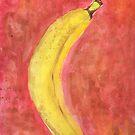 Banana watercolor by Avé Rivera