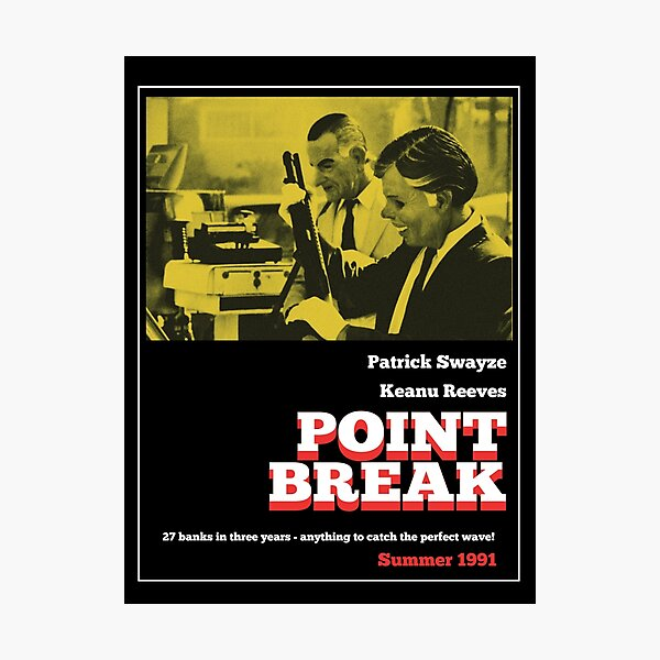 Point Break - 70s Grindhouse style Photographic Print