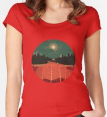 Midday Mountains Women's Fitted Scoop T-Shirt