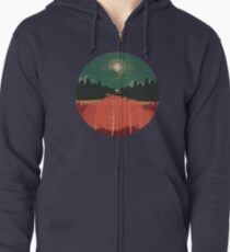 Midday Mountains Zipped Hoodie