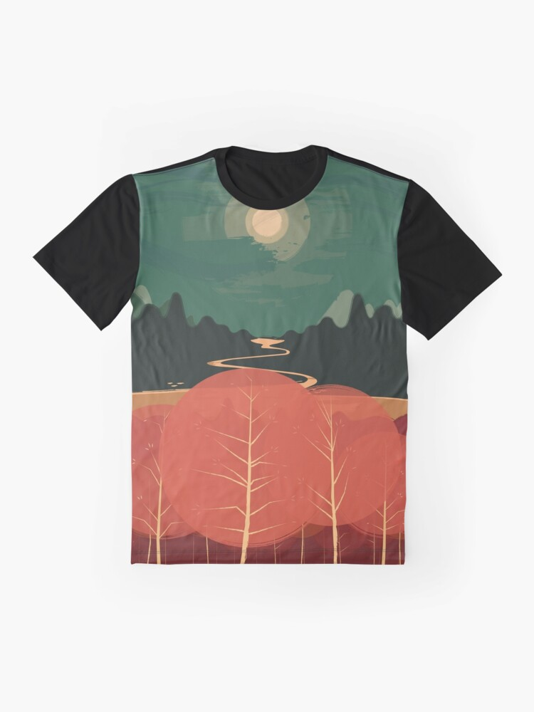 Alternate view of Midday Mountains Graphic T-Shirt