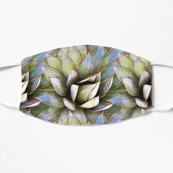 Succulent Nature Print Flat Mask