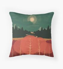 Midday Mountains Throw Pillow