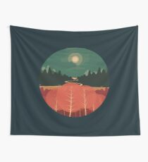 Midday Mountains Wall Tapestry