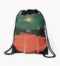 Midday Mountains Drawstring Bag