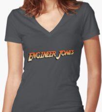 Engineer Jones Women's Fitted V-Neck T-Shirt