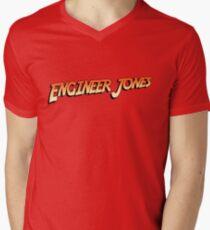 Engineer Jones Mens V-Neck T-Shirt
